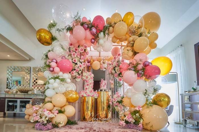 """Pretty in Pink"" Garden Birthday Party on Kara's Party Ideas 