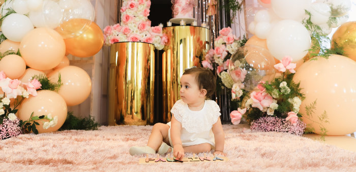 """Pretty in Pink"" Garden Birthday Party on Kara's Party Ideas   KarasPartyIdeas.com (1)"
