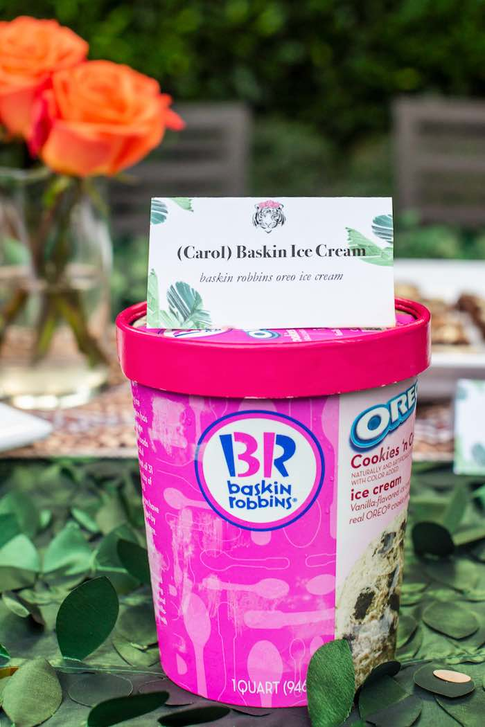 "(Carol) Baskin Robbins from a ""Twin Exotic"" Tiger King Inspired Birthday Party on Kara's Party Ideas 