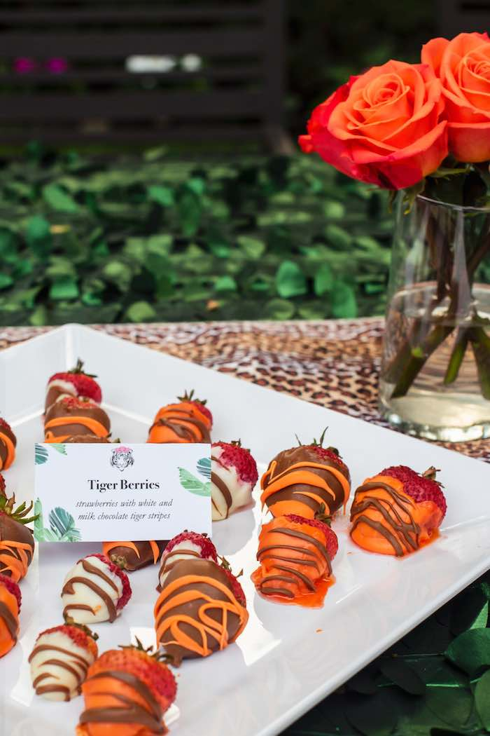 "Tiger Berries from a ""Twin Exotic"" Tiger King Inspired Birthday Party on Kara's Party Ideas 