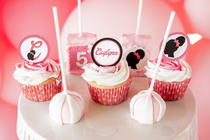 Cupcakes & Cake Pops from an Afro Barbie Dream Pool Party on Kara's Party Ideas | KarasPartyIdeas.com (15)