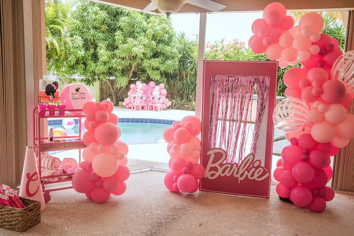 Afro Barbie Dream Pool Party on Kara's Party Ideas | KarasPartyIdeas.com (33)
