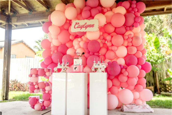 Barbie Themed Dessert Spread from an Afro Barbie Dream Pool Party on Kara's Party Ideas | KarasPartyIdeas.com (7)
