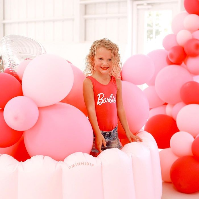Balloon Pit from a Barbie Ranch Vacation Birthday Party on Kara's Party Ideas | KarasPartyIdeas.com (12)