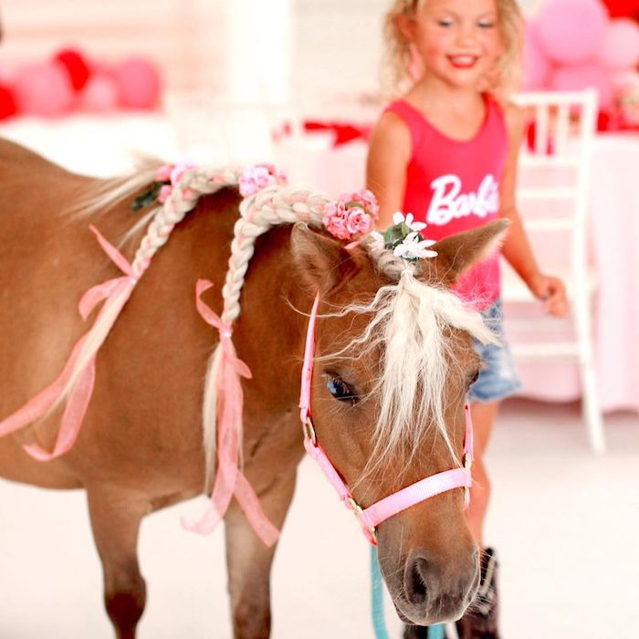 Pony from a Barbie Ranch Vacation Birthday Party on Kara's Party Ideas | KarasPartyIdeas.com (11)