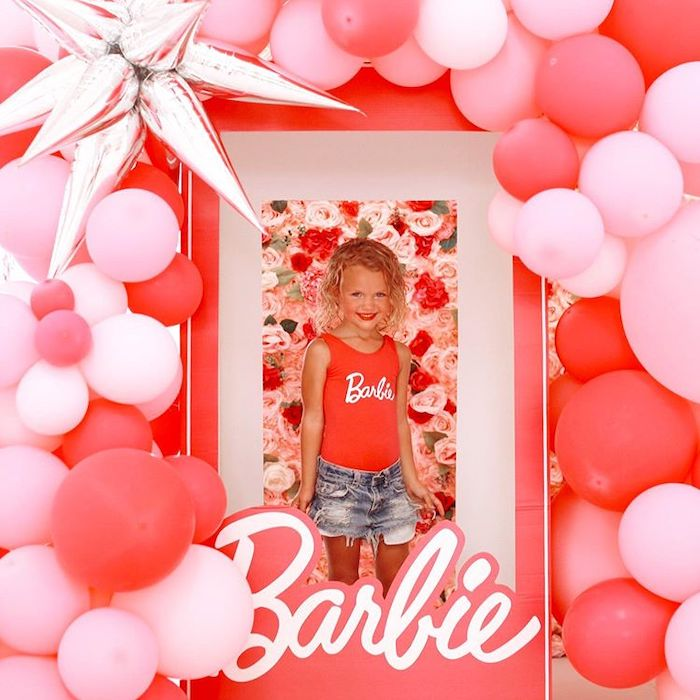 Barbie Box Photo Booth from a Barbie Ranch Vacation Birthday Party on Kara's Party Ideas | KarasPartyIdeas.com (9)