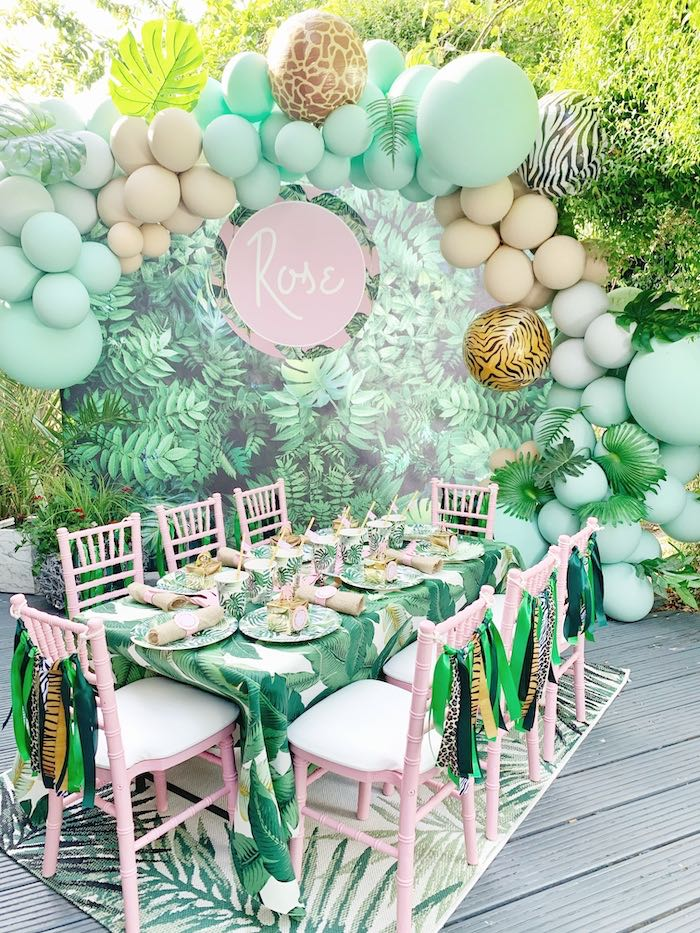 Tropical Jungle Themed Guest from a Beverly Hills Jungle Birthday Party on Kara's Party Ideas | KarasPartyIdeas.com (9)