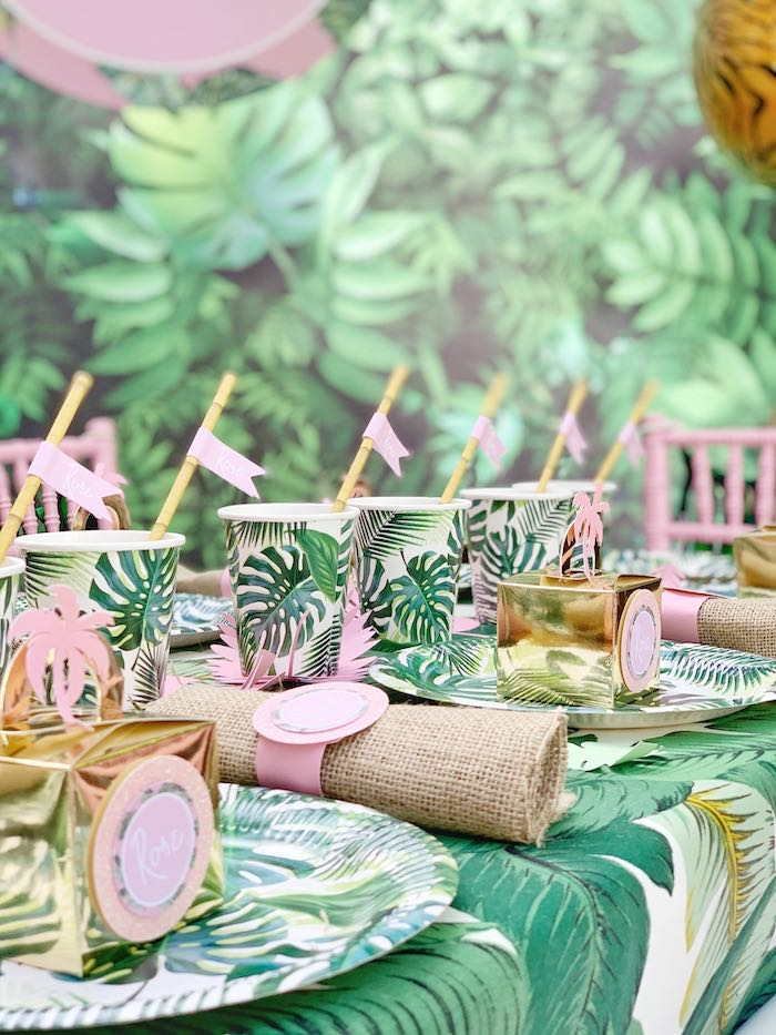 Jungle Tablescape from a Beverly Hills Jungle Birthday Party on Kara's Party Ideas | KarasPartyIdeas.com (8)
