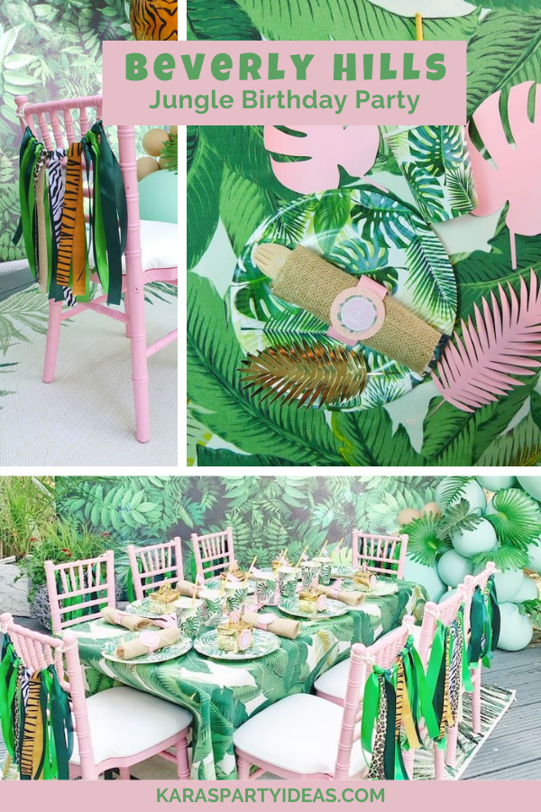 Beverly Hills Jungle Birthday Party via Kara's Party Ideas - KarasPartyIdeas.com