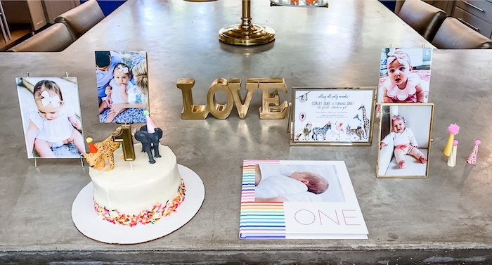 Highlight Table from a Calling All Party Animals First Birthday Party on Kara's Party Ideas | KarasPartyIdeas.com (21)