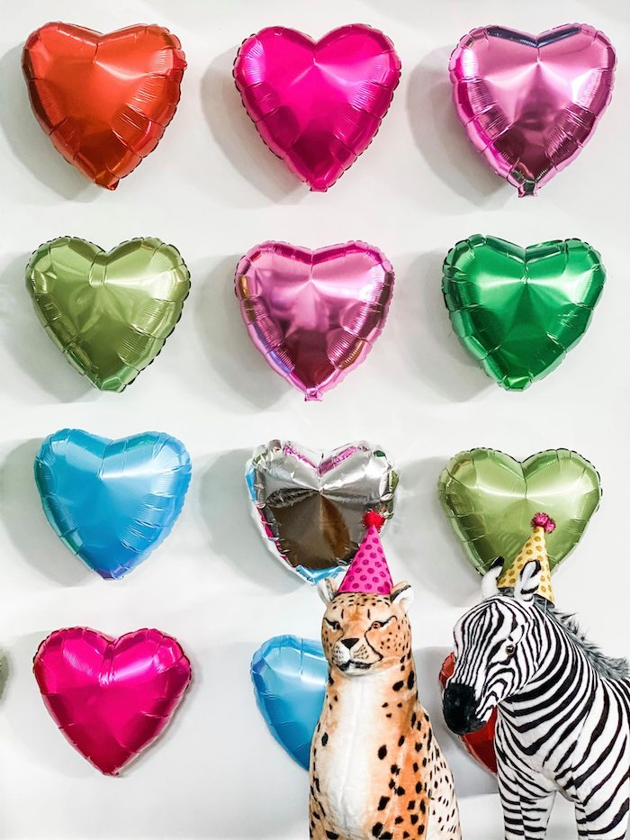 Wild Animal + Heart Balloon Wall from a Calling All Party Animals First Birthday Party on Kara's Party Ideas | KarasPartyIdeas.com (17)