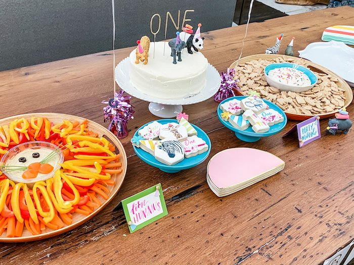 Wild Animal-inspired Cake Table from a Calling All Party Animals First Birthday Party on Kara's Party Ideas | KarasPartyIdeas.com (15)