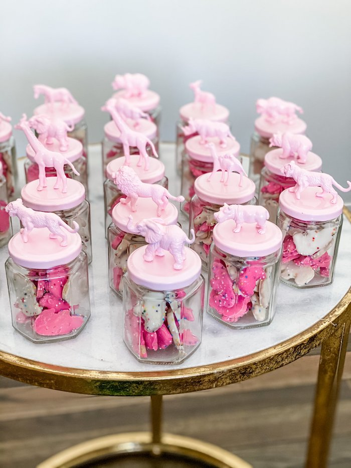 Circus Animal Cookie Favor Jars from a Calling All Party Animals First Birthday Party on Kara's Party Ideas | KarasPartyIdeas.com (12)