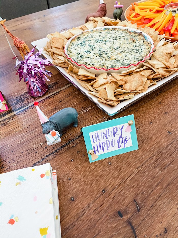 Hungry Hippo Dip from a Calling All Party Animals First Birthday Party on Kara's Party Ideas | KarasPartyIdeas.com (7)