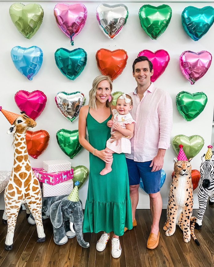 Wild Animal + Heart Balloon Wall Backdrop from a Calling All Party Animals First Birthday Party on Kara's Party Ideas | KarasPartyIdeas.com (32)