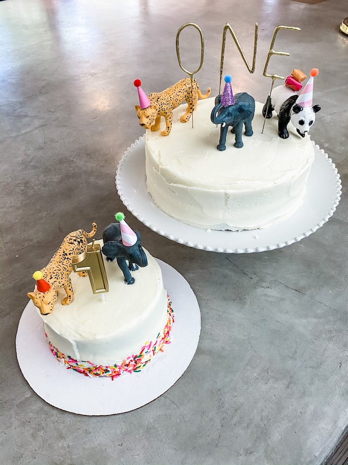 Wild Animal Cakes from a Calling All Party Animals First Birthday Party on Kara's Party Ideas | KarasPartyIdeas.com (27)