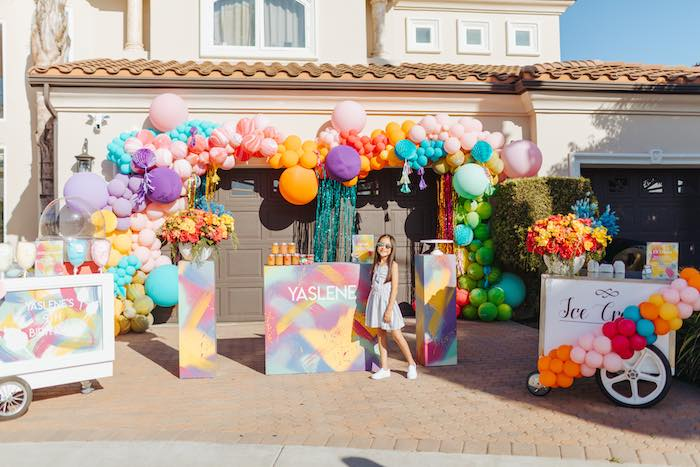 Colorful Drive-By Birthday Parade on Kara's Party Ideas | KarasPartyIdeas.com (23)