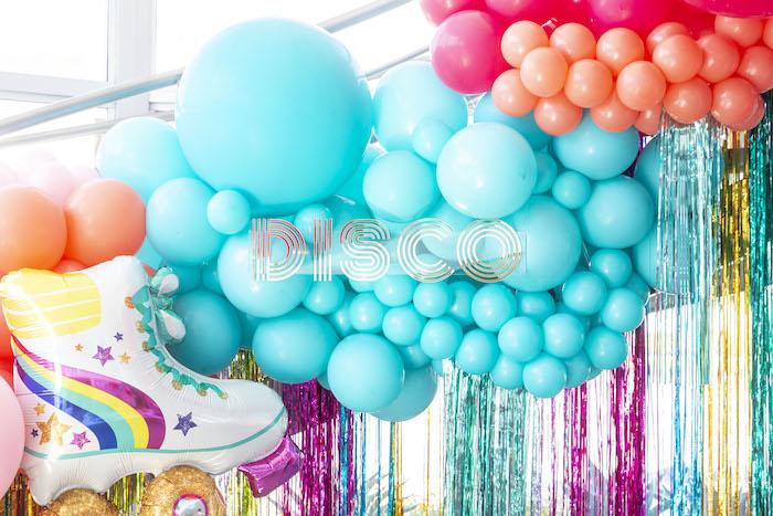 Disco Themed Balloon Tassel Backdrop from a Disco Vibes Party on Kara's Party Ideas | KarasPartyIdeas.com (32)
