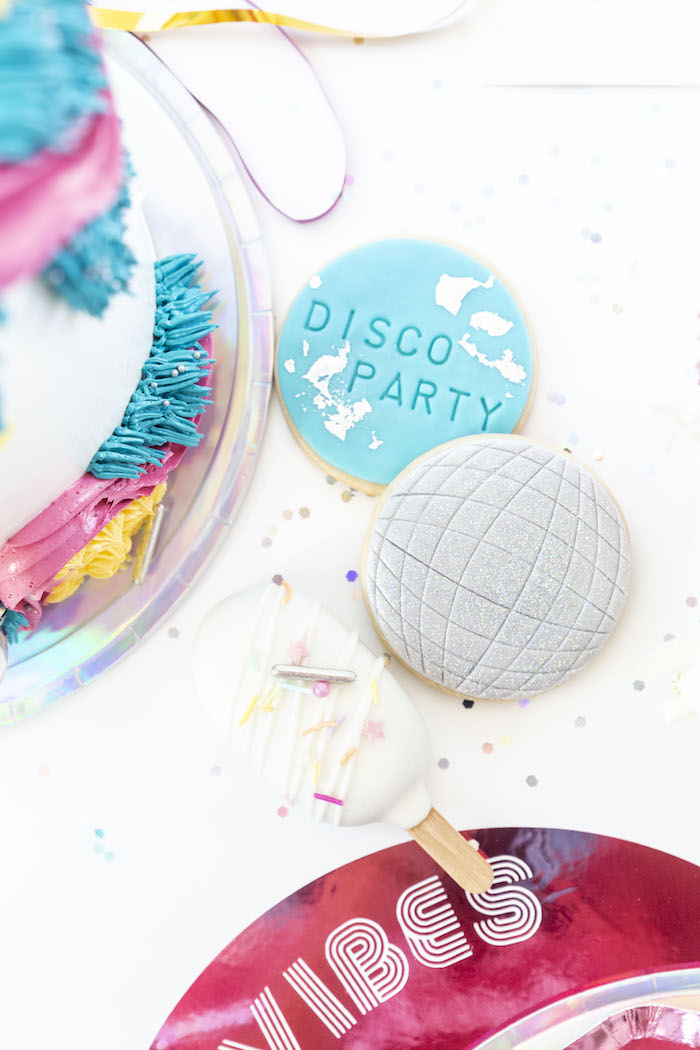 Modern Disco Cookies from a Disco Vibes Party on Kara's Party Ideas | KarasPartyIdeas.com (13)