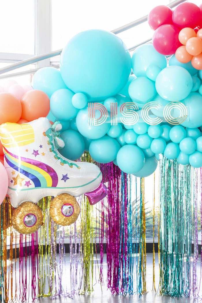 Disco Themed Balloon Tassel Backdrop from a Disco Vibes Party on Kara's Party Ideas | KarasPartyIdeas.com (31)