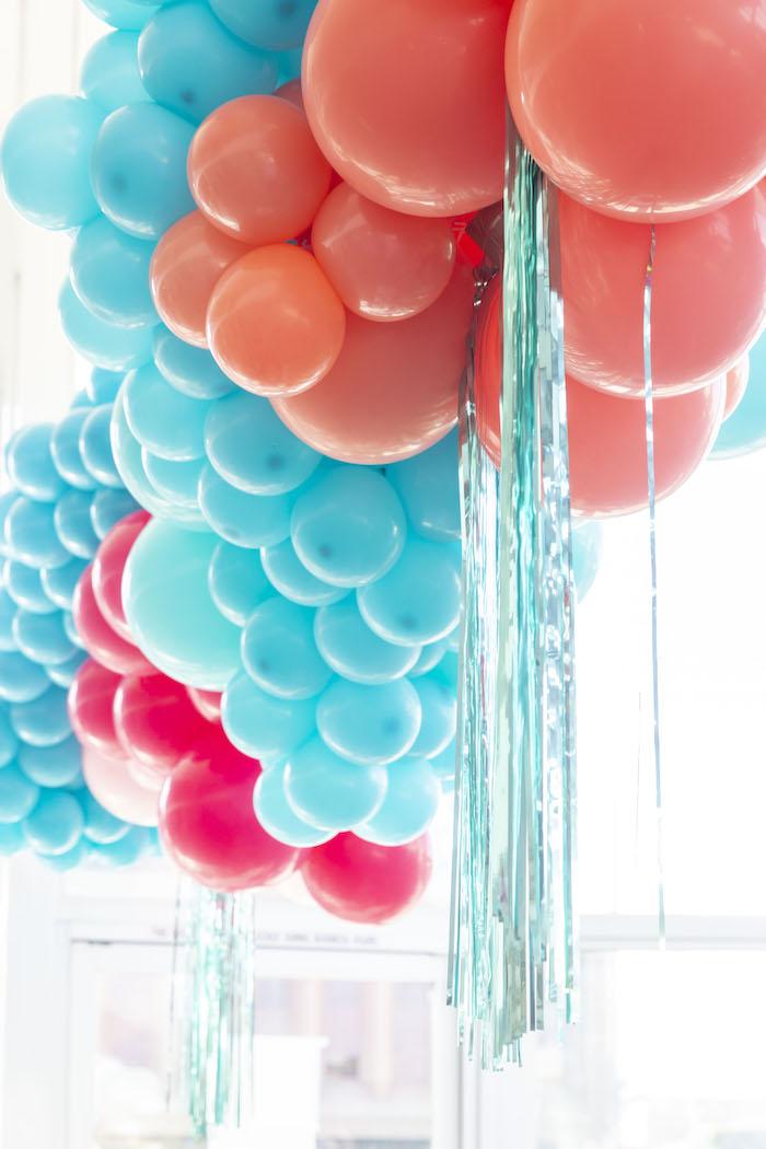 Disco Themed Balloon Tassel Backdrop from a Disco Vibes Party on Kara's Party Ideas | KarasPartyIdeas.com (30)
