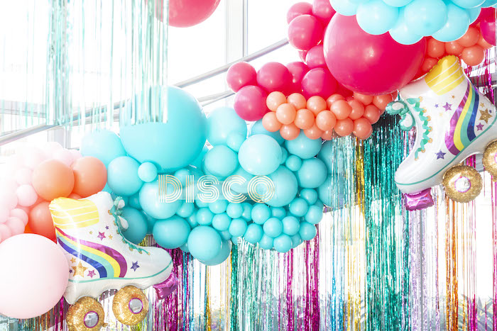 Disco Themed Balloon Tassel Backdrop from a Disco Vibes Party on Kara's Party Ideas | KarasPartyIdeas.com (29)