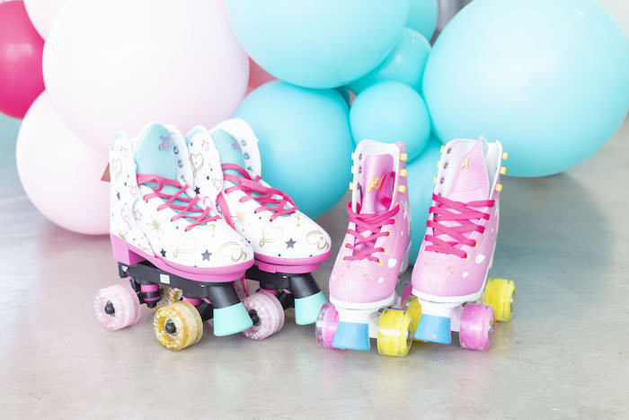 Roller Skates from a Disco Vibes Party on Kara's Party Ideas | KarasPartyIdeas.com (27)