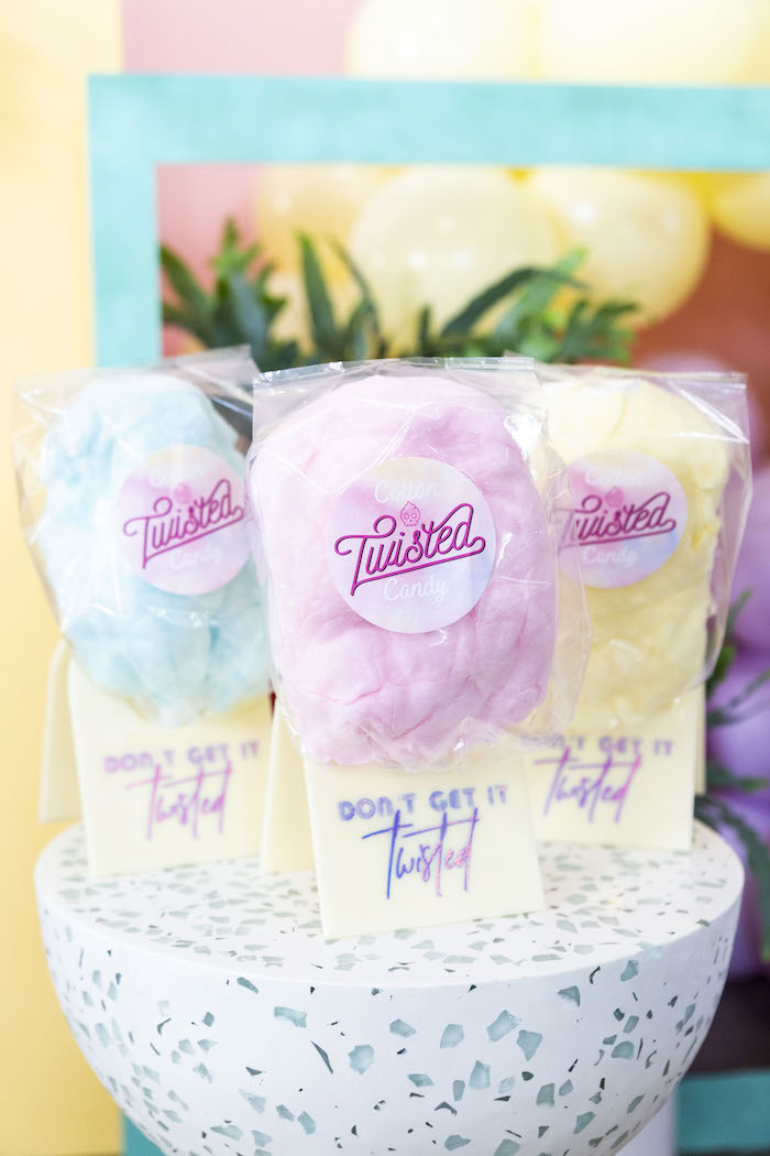 """Cotton Candy from a Floral """"Quarantine TLC"""" Moms' Day Out Party on Kara's Party Ideas   KarasPartyIdeas.com (9)"""