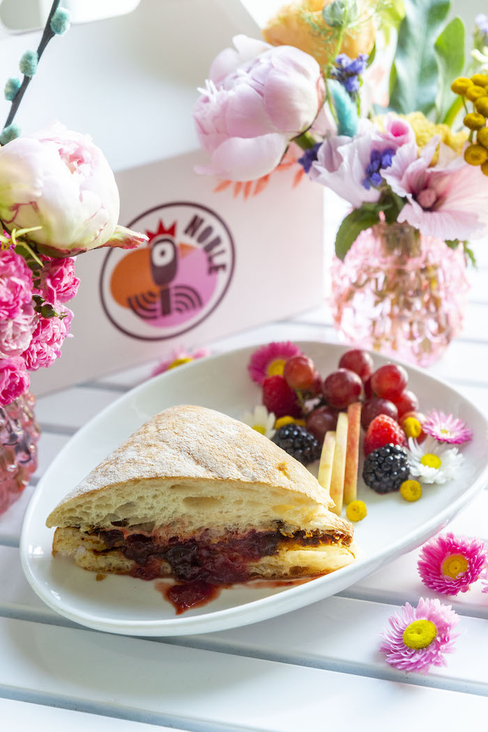 """NOBLE Sandwich from a Floral """"Quarantine TLC"""" Moms' Day Out Party on Kara's Party Ideas   KarasPartyIdeas.com (7)"""