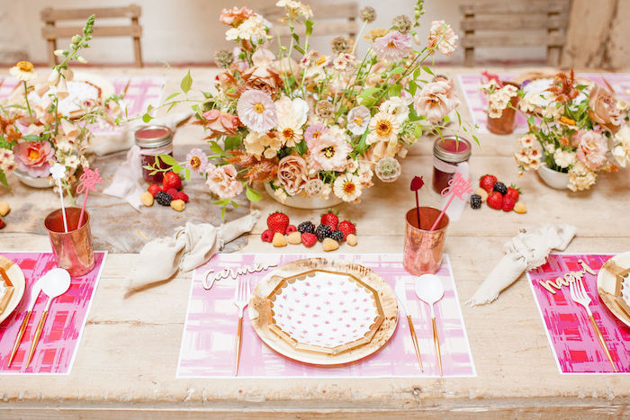 Harvest-inspired Kid Table from a Floral Fall Harvest Party on Kara's Party Ideas | KarasPartyIdeas.com (21)