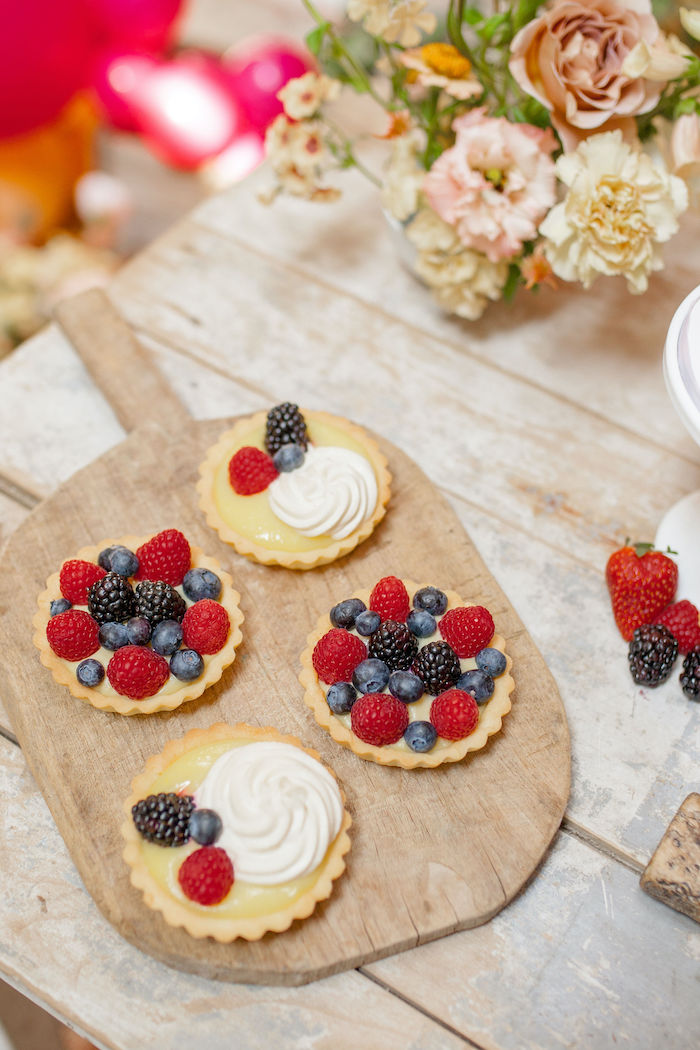 Berry Dessert Tarts from a Floral Fall Harvest Party on Kara's Party Ideas | KarasPartyIdeas.com (6)