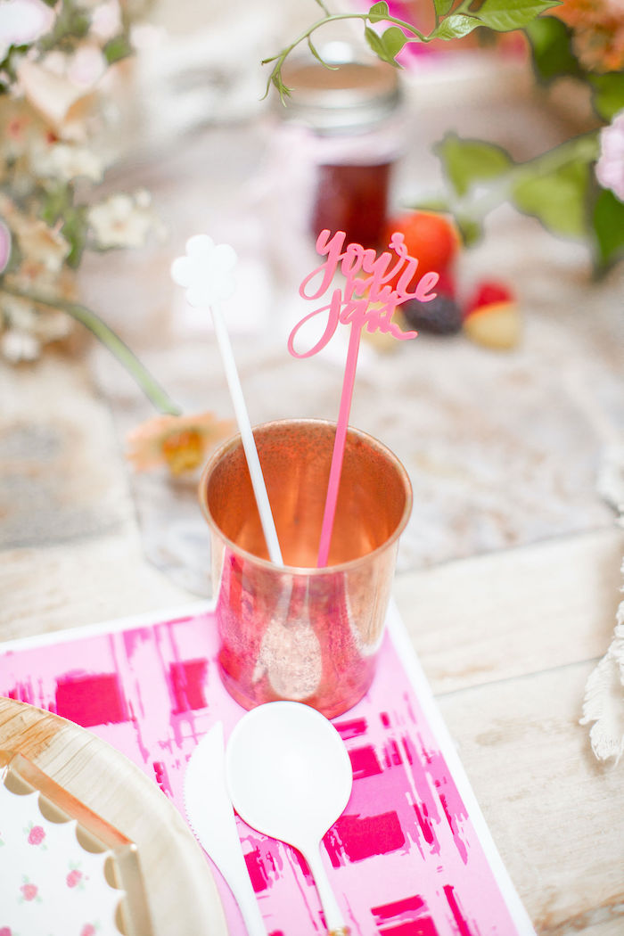 Copper Cup from a Floral Fall Harvest Party on Kara's Party Ideas | KarasPartyIdeas.com (29)