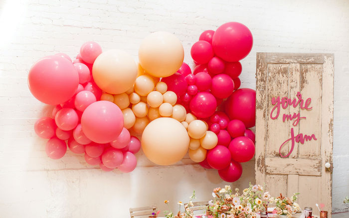 Balloon Wall Install + Backdrop from a Floral Fall Harvest Party on Kara's Party Ideas | KarasPartyIdeas.com (22)