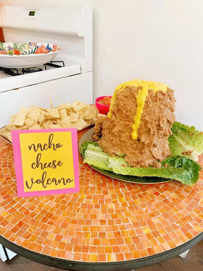 Nacho Cheese Volcano from a Glam Three-Rex Dinosaur Party on Kara's Party Ideas | KarasPartyIdeas.com (17)