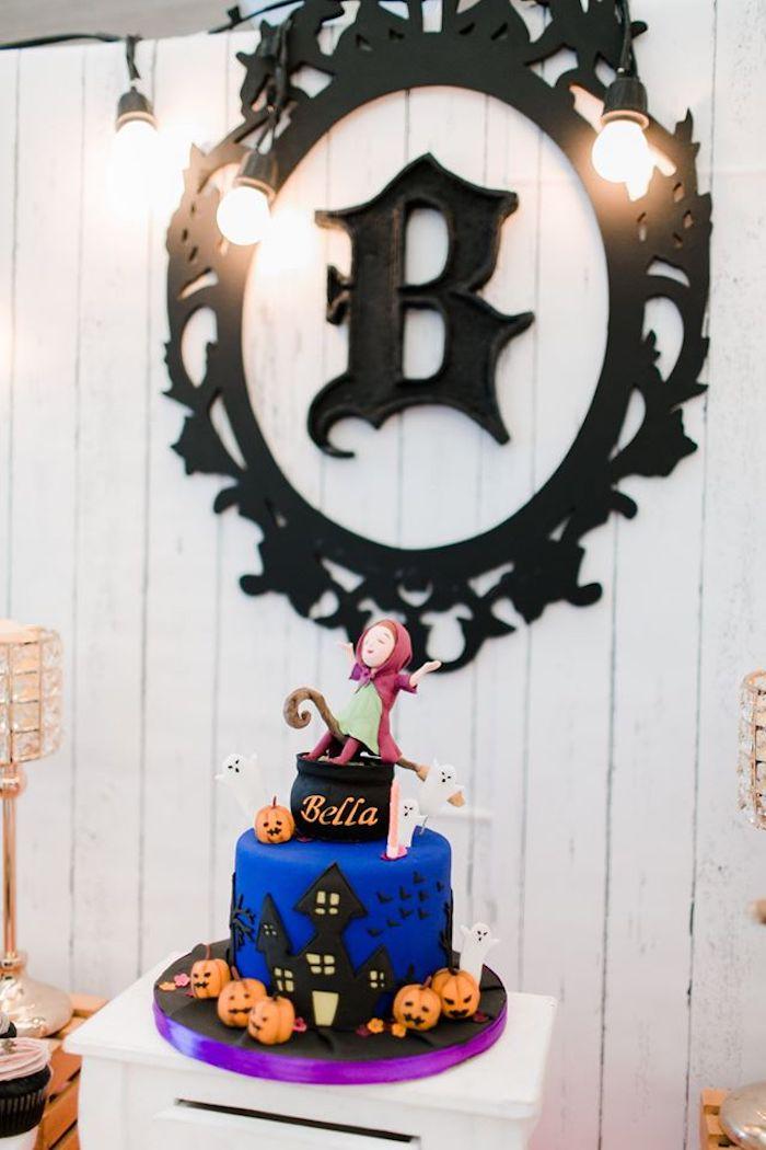 Haunted House Birthday Cake from a Hocus Pocus Halloween Birthday Party on Kara's Party Ideas | KarasPartyIdeas.com (23)