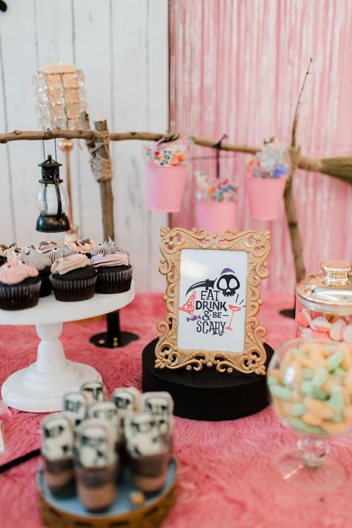 Eat Drink & Be Scary - Dessert Table from a Hocus Pocus Halloween Birthday Party on Kara's Party Ideas | KarasPartyIdeas.com (21)