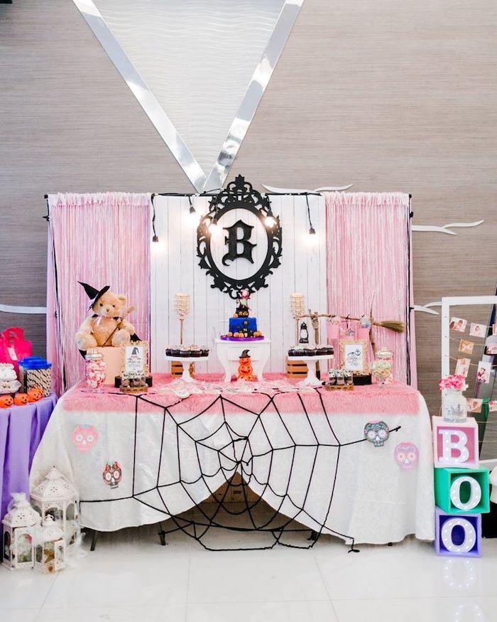 Girly Halloween Dessert Table from a Hocus Pocus Halloween Birthday Party on Kara's Party Ideas | KarasPartyIdeas.com (19)