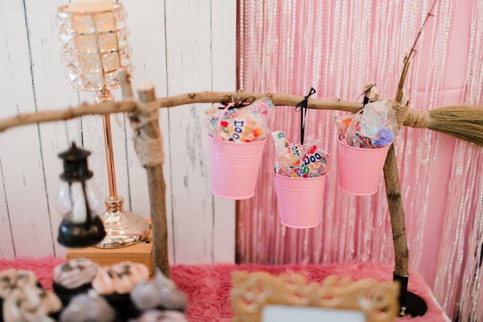Pink Goodie Buckets from a Hocus Pocus Halloween Birthday Party on Kara's Party Ideas | KarasPartyIdeas.com (33)
