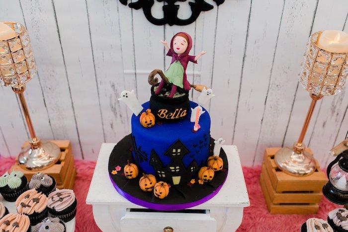 Haunted House Birthday Cake from a Hocus Pocus Halloween Birthday Party on Kara's Party Ideas | KarasPartyIdeas.com (32)