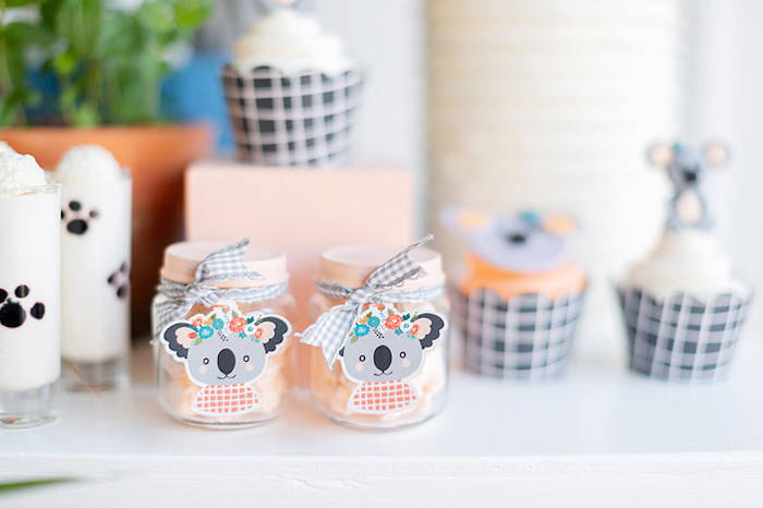 Koala-adorned Candy Jars from a Koala Birthday Party on Kara's Party Ideas | KarasPartyIdeas.com (23)