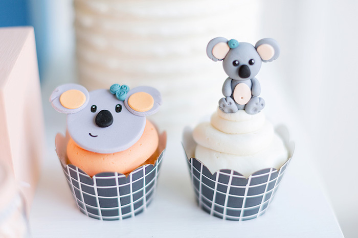 Koala Cupcakes from a Koala Birthday Party on Kara's Party Ideas | KarasPartyIdeas.com (22)