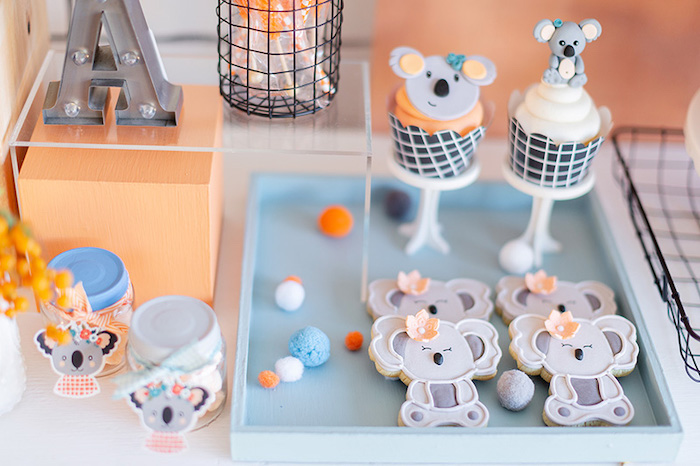Koala Cookies + Cupcakes from a Koala Birthday Party on Kara's Party Ideas | KarasPartyIdeas.com (19)