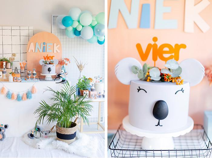 Koala Cake + Koala Themed Dessert Table from a Koala Birthday Party on Kara's Party Ideas | KarasPartyIdeas.com (18)