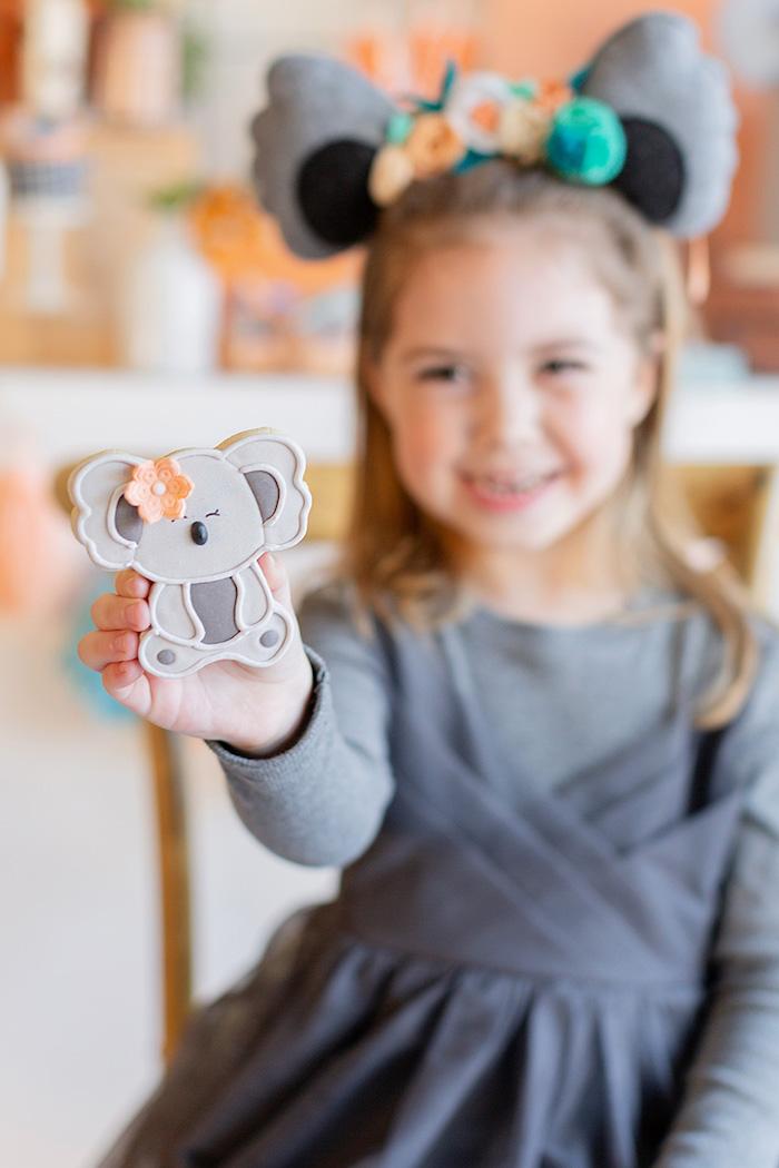 Koala Cookie from a Koala Birthday Party on Kara's Party Ideas | KarasPartyIdeas.com (8)