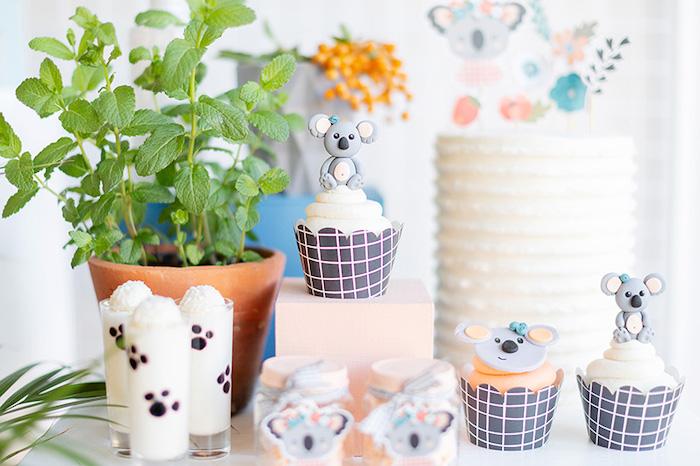 Koala Cupcakes from a Koala Birthday Party on Kara's Party Ideas | KarasPartyIdeas.com (27)