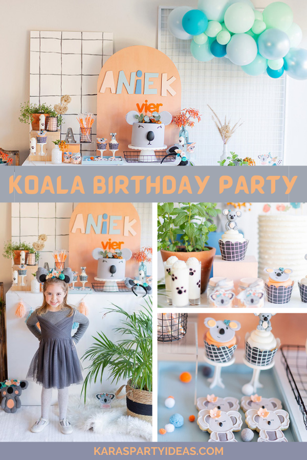 Koala Birthday Party via Kara's Party Ideas - KarasPartyIdeas.com