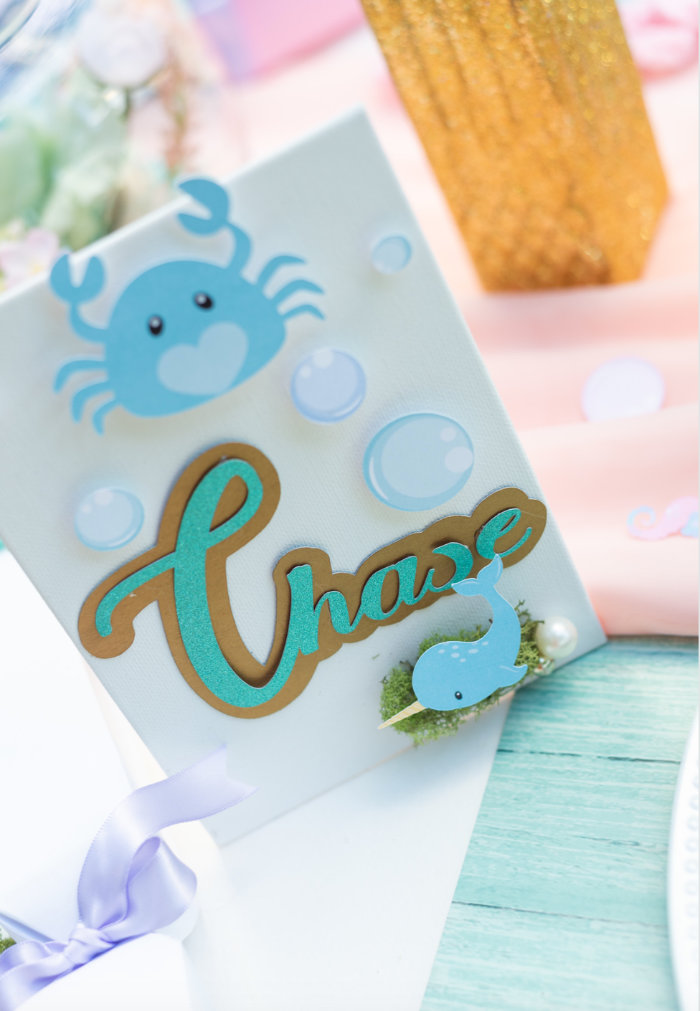 Under the Sea Themed Place Card from a Mermaid Picnic Party on Kara's Party Ideas | KarasPartyIdeas.com (27)