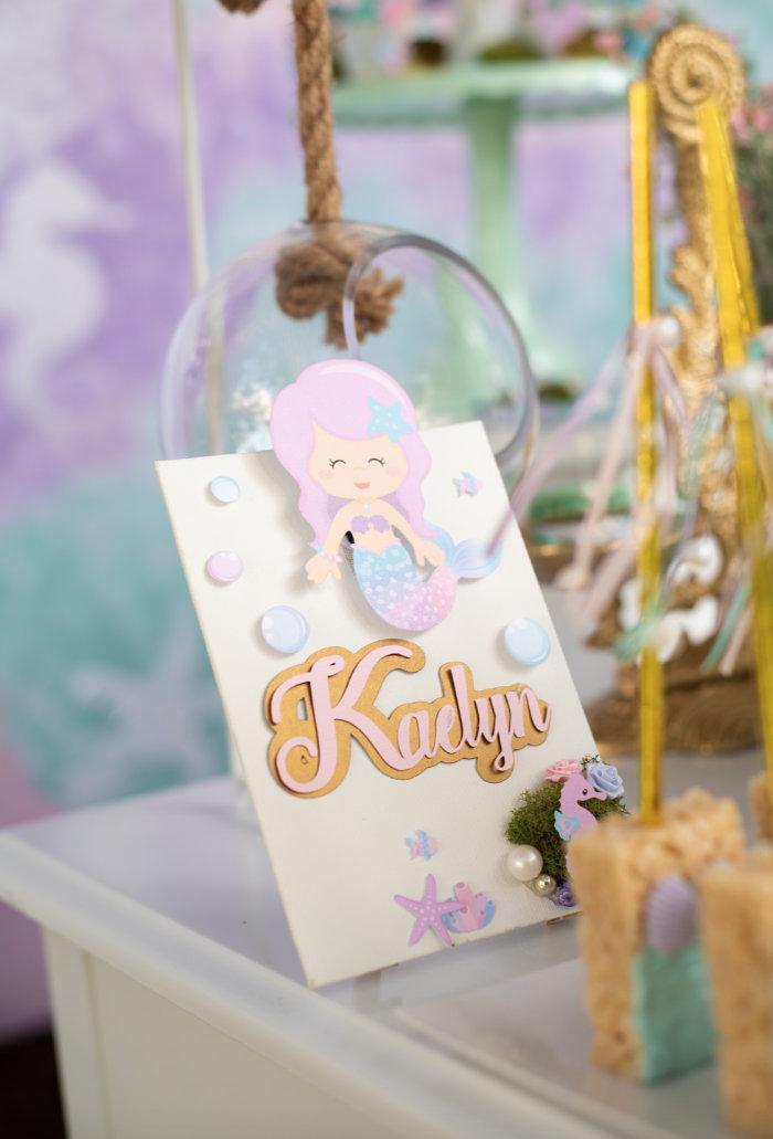 Mermaid Picnic Party on Kara's Party Ideas | KarasPartyIdeas.com (17)