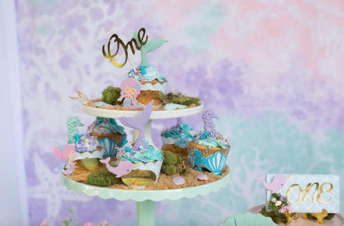 Under the Sea Dessert Platter from a Mermaid Picnic Party on Kara's Party Ideas | KarasPartyIdeas.com (12)