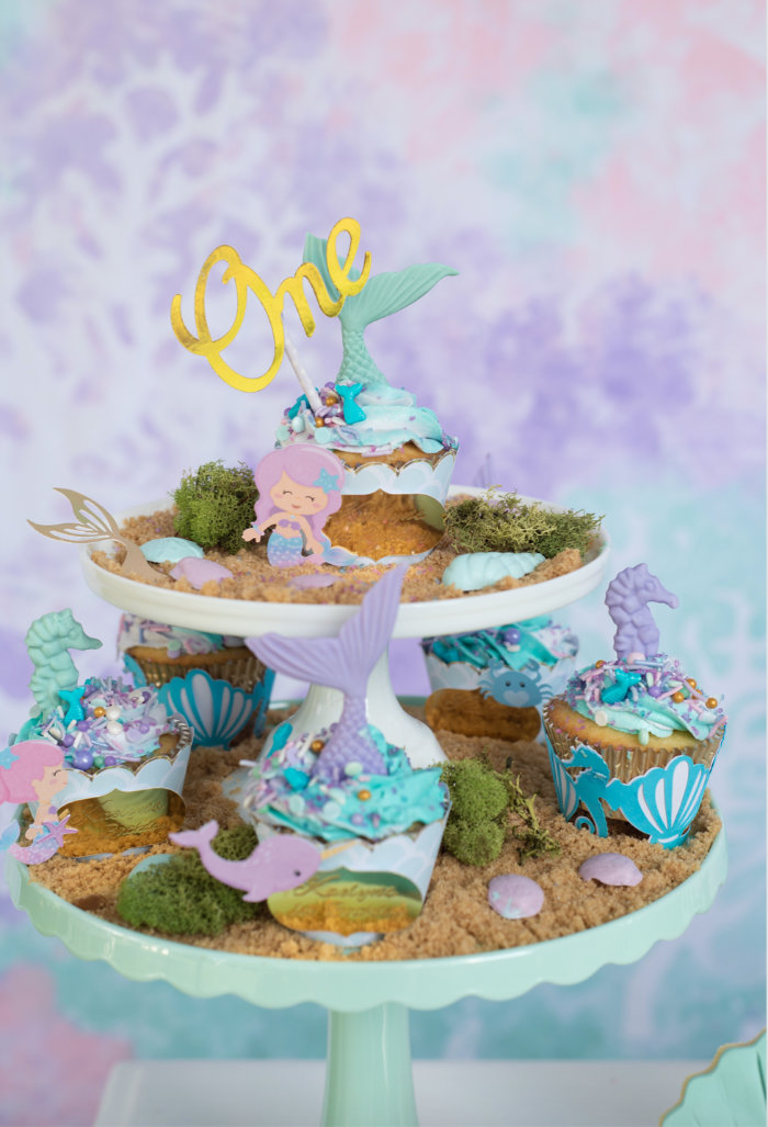 Under the Sea Dessert Platter from a Mermaid Picnic Party on Kara's Party Ideas | KarasPartyIdeas.com (11)